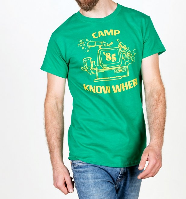 Stranger Things Inspired Camp Know Where Green T-Shirt