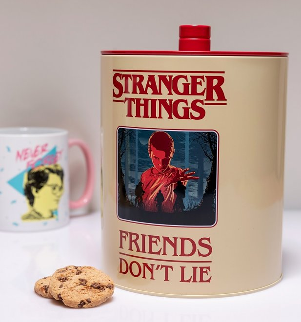 Stranger Things Retro Poster Tin Cookie Jar