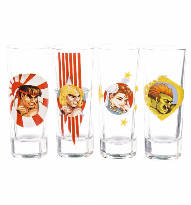 Street Fighter Set Of 4 Mini Glasses
