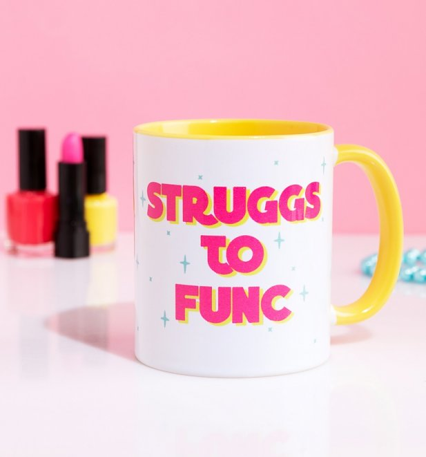 Struggs To Func Pink Handle Mug