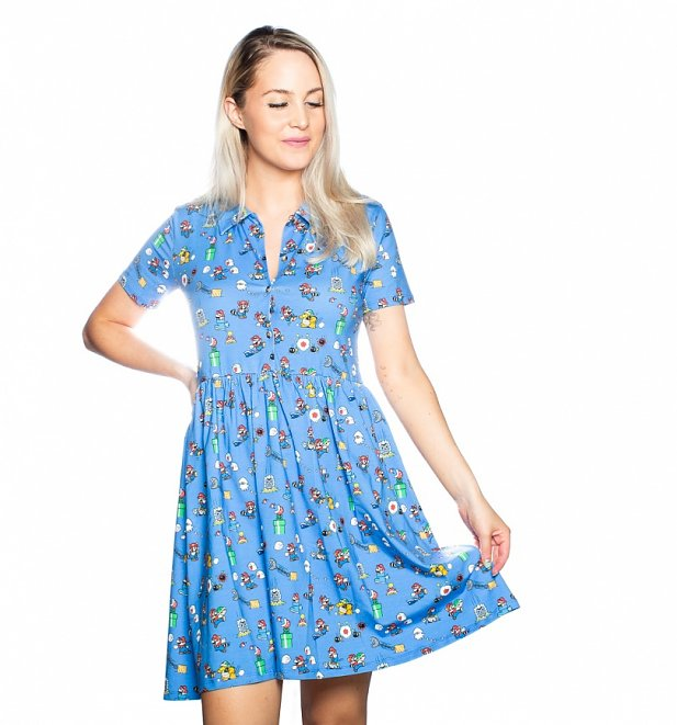 Super Mario Bros. 3 Button Up Dress from Cakeworthy