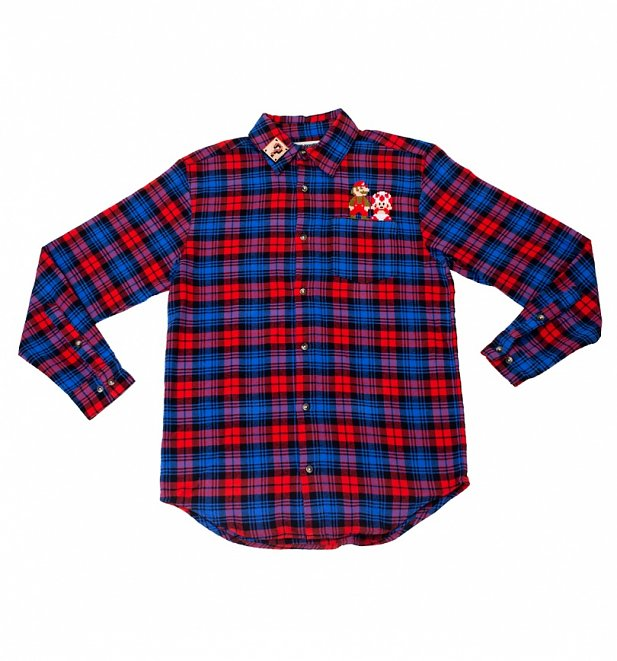 Super Mario Bros. Flannel Shirt from Cakeworthy