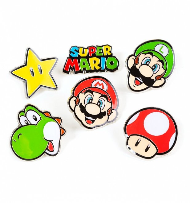 Super Mario Brothers Pin Badge Set from Difuzed