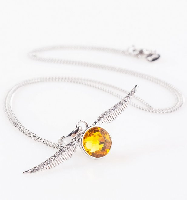 Swarovski Crystal Embellished Harry Potter Golden Snitch Necklace