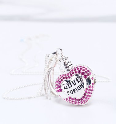 Swarovski Crystal Embellished Harry Potter Love Potion Locket Necklace