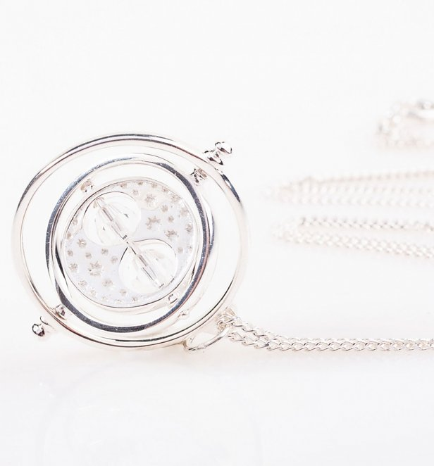 Swarovski Crystal Embellished Harry Potter Spinning Time Turner Necklace