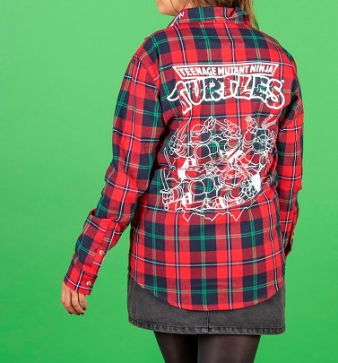 Teenage Mutant Ninja Turtles Logo Flannel Shirt from Cakeworthy