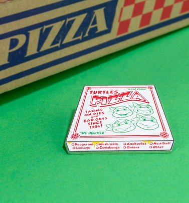 Teenage Mutant Ninja Turtles Pizza Box Enamel Pin from Cakeworthy