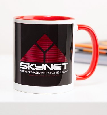 Terminator Inspired Skynet Red Handle Mug