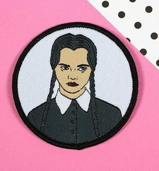 The Addams Family Inspired Wednesday Addams Woven Patch from Punky Pins
