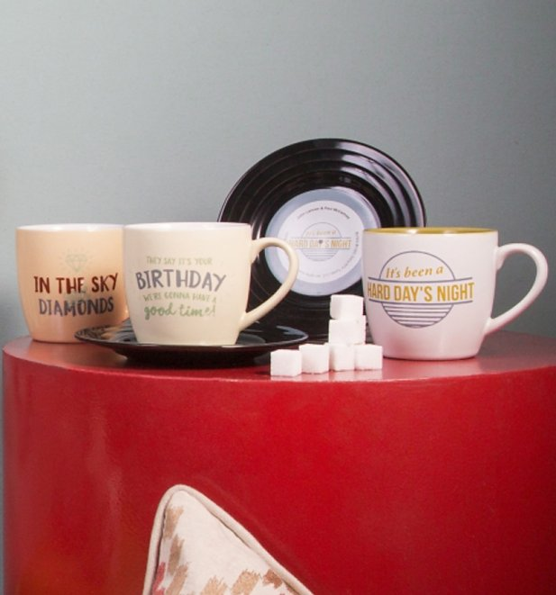 The Beatles Lennon and McCartney A Hard Day's Night Mug and Saucer Set