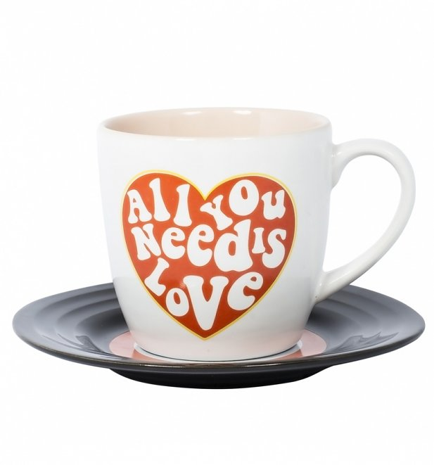 The Beatles Lennon and McCartney All You Need Is Love Mug and Saucer Set