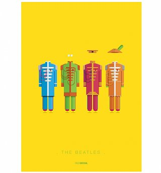 "The Beatles Outfits 11"" x 14"" Art Print"