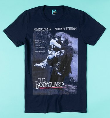The Bodyguard Movie Poster Navy T-Shirt