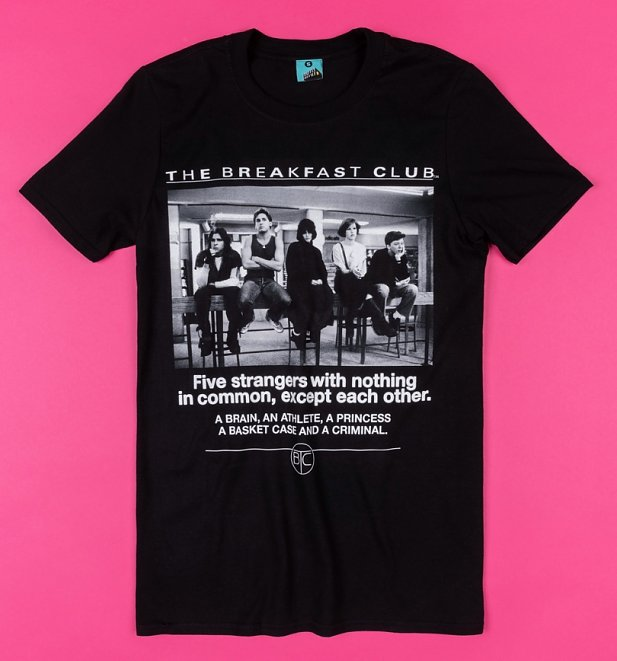 The Breakfast Club Detention Black T-Shirt