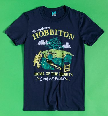 The Cozy Town Of Hobbiton Navy T-Shirt