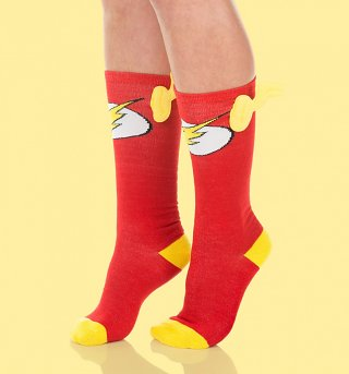 The Flash Knee High Socks with Wings