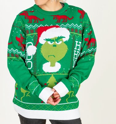 The Grinch Knitted Christmas Jumper
