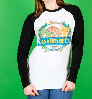 The Land Before Time Organic Baseball Shirt