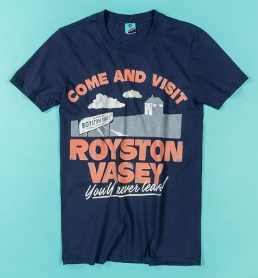 The League Of Gentlemen Inspired Royston Vasey Navy T-Shirt