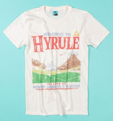 The Legend Of Zelda Inspired Welcome To Hyrule Ecru T-Shirt