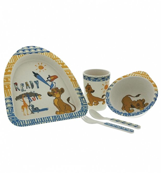 The Lion King Disney Simba Organic Bamboo Dinner Set