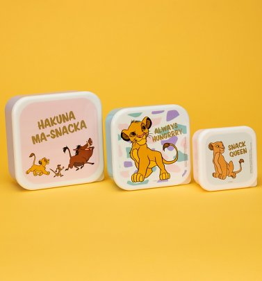 The Lion King Set Of Three Snack Boxes