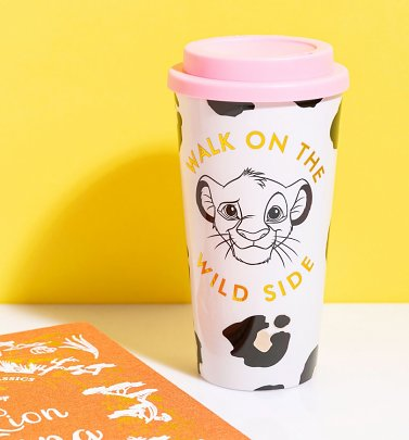 The Lion King Simba Animal Print Travel Mug