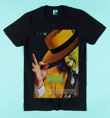 The Mask Movie Poster Black T-Shirt
