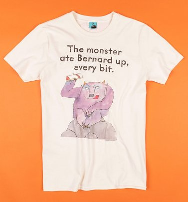 The Monster Ate Bernard Up Natural T-Shirt