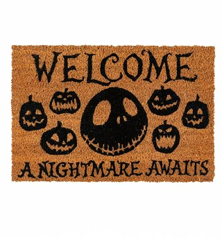 The Nightmare Before Christmas A Nightmare Awaits Door Mat