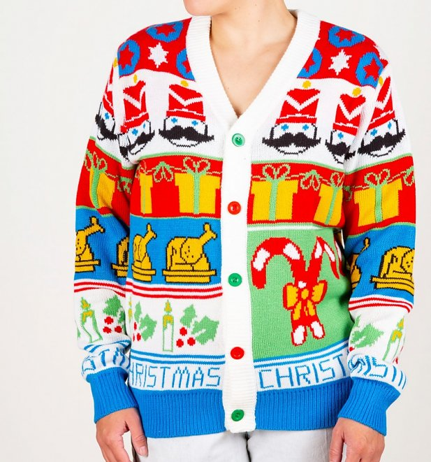 The Nutcracker Knitted Christmas Cardigan from Cheesy Christmas Jumpers