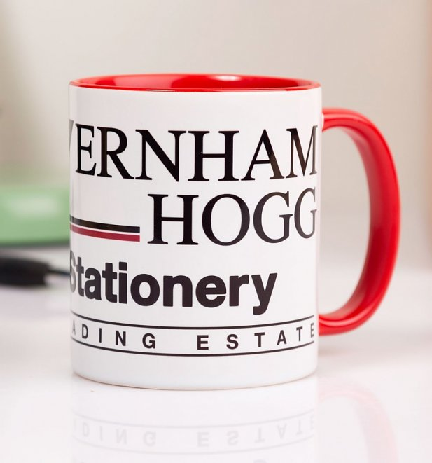 The Office Inspired Wernham Hogg Red Handle Mug
