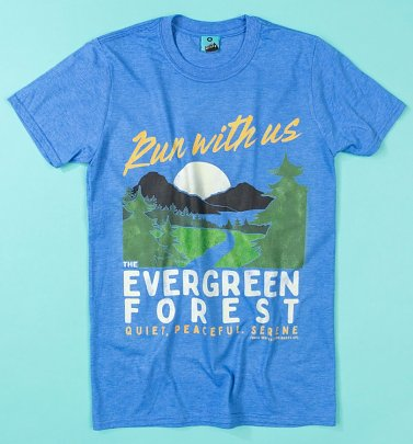 The Raccoons Evergreen Forest Heather Royal T-Shirt