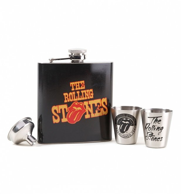 The Rolling Stones Hip Flask Gift Set