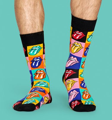 The Rolling Stones Jumpin Jack Flash Socks from Happy Socks