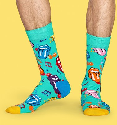 The Rolling Stones Notes Socks from Happy Socks