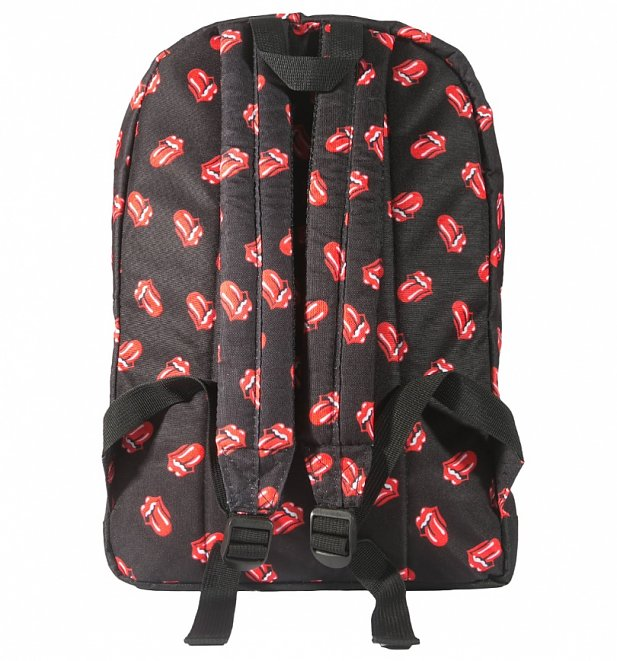 The Rolling Stones Tongue Logo Print Backpack by Rock Sax