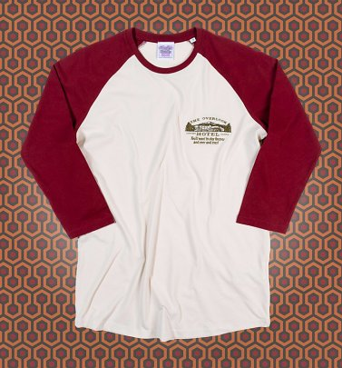 The Shining Inspired Overlook Hotel Embroidered Baseball T-Shirt