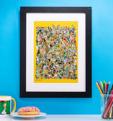 The Simpsons Characters Framed Print 30cm x 40cm