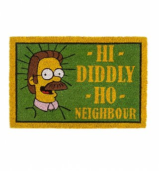 The Simpsons Flanders Hi Diddly Ho Neighbour Door Mat