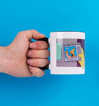 The Simpsons Old Man Yells At Cloud Yellow Handle Mug