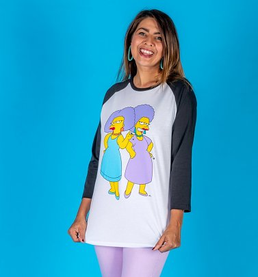 The Simpsons Patty and Selma Baseball T-Shirt