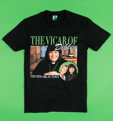 The Vicar Of Dibley Black T-Shirt