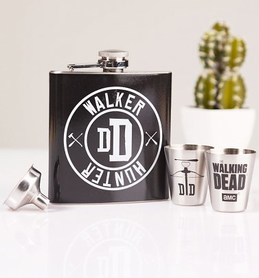 The Walking Dead Walker Hunter Hip Flask Gift Set