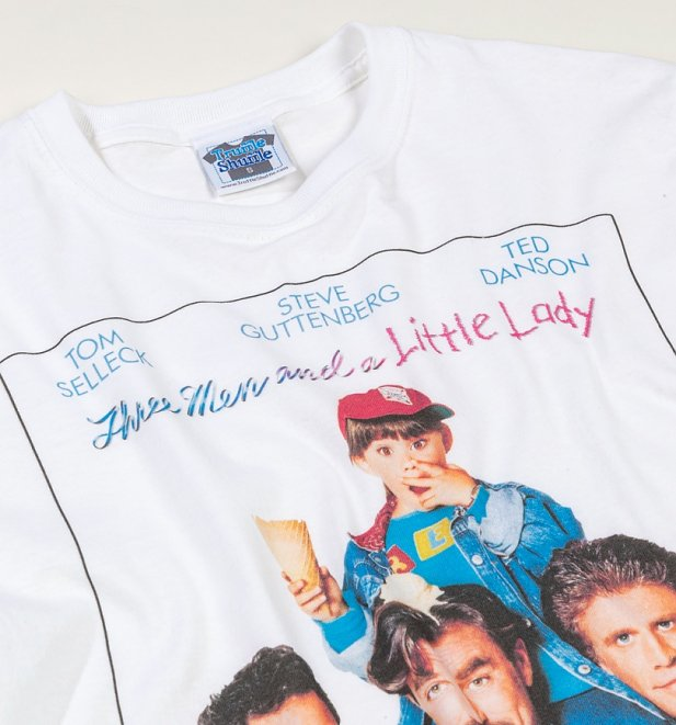 Three Men And A Little Lady Movie Poster White T-Shirt