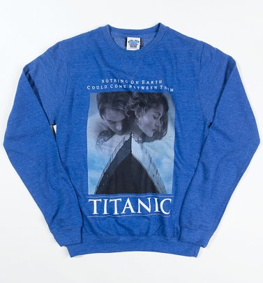 Titanic Movie Poster Heather Royal Sweater
