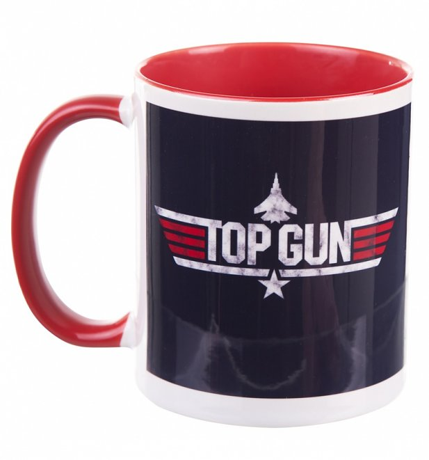 Top Gun Maverick Mug with Red Handle