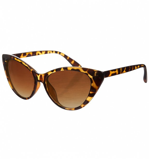 Tortoiseshell Retro Cat Eye Sunglasses