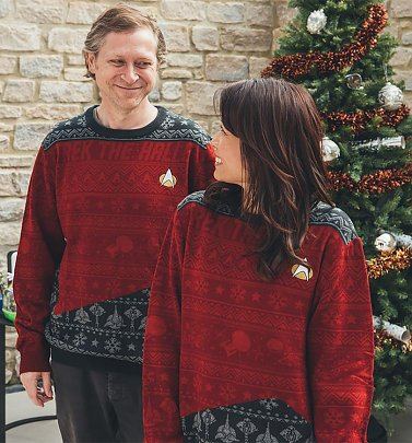 Trek The Halls Knitted Star Trek Christmas Jumper